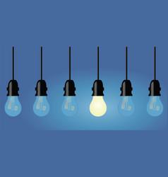 Light bulbs in a row vector
