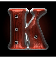 metal and wood figure k vector image vector image