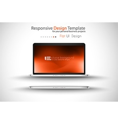 Modern laptop - open and close version with vector image vector image
