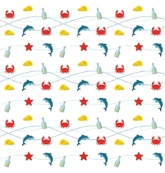 Nautical colored pattern vector