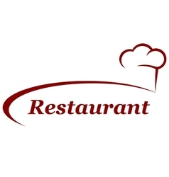 restaurant background with chef hat vector image