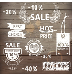 sale emblems vector image vector image