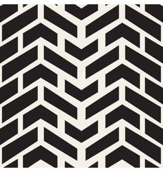 Seamless black and white chevron halftone vector