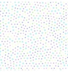 seamless pattern stars vector image