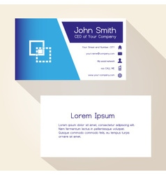simple blue and white business card design eps10 vector image