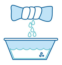Squeeze the clothes icon vector