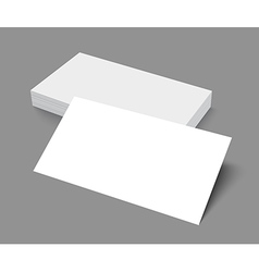 Stack of blank business card on gray background vector