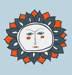 sun cartoon character as weather sign temperature vector image