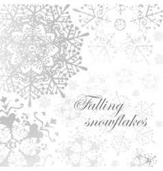 winter grey snowflakes christmas pattern vector image