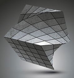 Zink squared stylish 3d construction dimensional vector