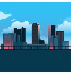 City landscape cartoon vector image