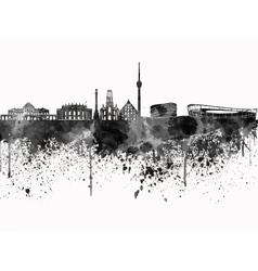 Stuttgart skyline in black watercolor on white vector image