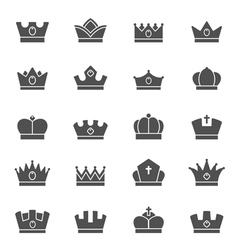 Crown solid icons vector
