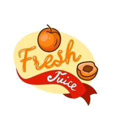 fresh juice emblem 4 vector image