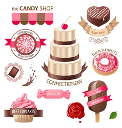 Sweets emblems vector