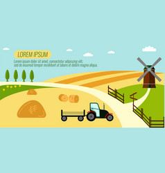 Agriculture farming and rural landscape vector