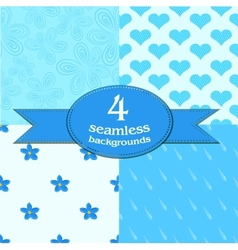Cute seamless backgrounds vector