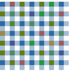 Blue gingham mix seamless pattern vector