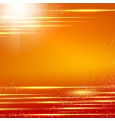 Orange background with light effect vector