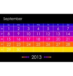 2013 September vector image