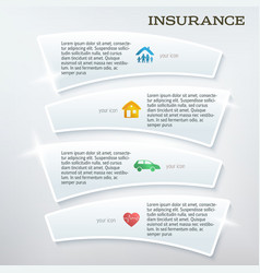 Flyer template layout insurance services vector
