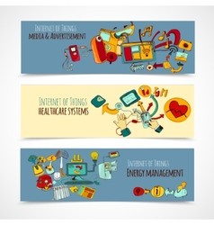 Internet of things banners vector