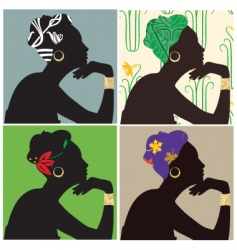 Woman in headscarf vector
