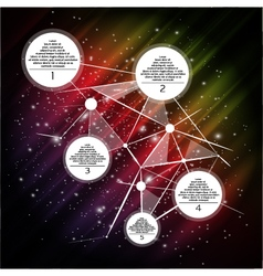 Space infographic vector