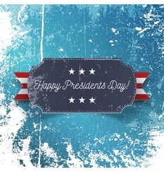 Realistic happy presidents day greeting card vector