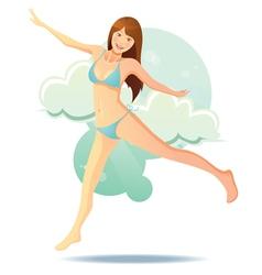 cute bikini girl vector image