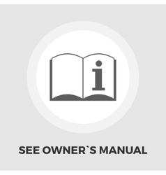 See owner manual icon flat vector