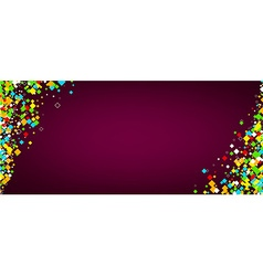Banner with colour rhombs vector