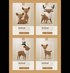 Animal banner with deers for web design 2 vector