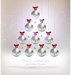 Abstract Christmas Tree Design vector image