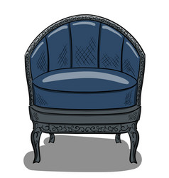 armchair in the style of art nouveau with dark vector image vector image
