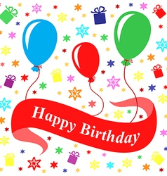 birthday multicolor vector image vector image