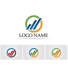 Business finance logo - concept vector