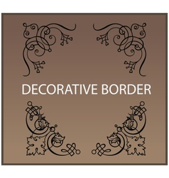 Calligraphic and decor design elements borders vector image vector image