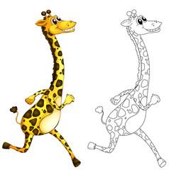Doodle animal for giraffe vector