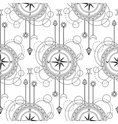 Geometric compass seamless pattern vector