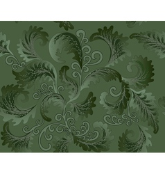 green foliate pattern vector image