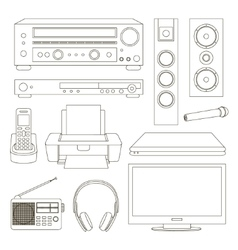 Home technics set vector image
