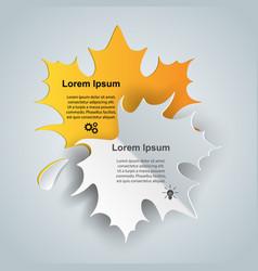 Leaf six slice paper infographic vector