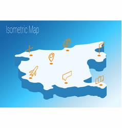 map montenegro isometric concept vector image vector image