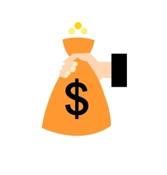 Object bag with money vector