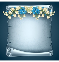 Old paper with flowers vector