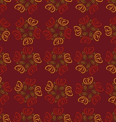 Pattern of Roses vector image vector image