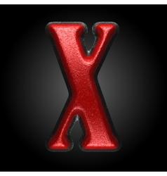 Red plastic figure x vector