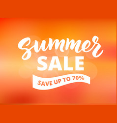 Summer sale banner design template abstract vector
