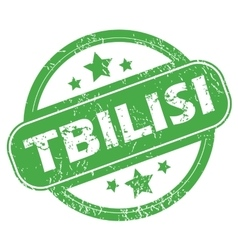 Tbilisi green stamp vector